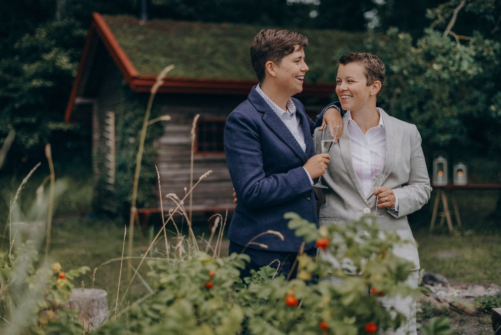 Christine and Hannah LGBT wedding in Denmark