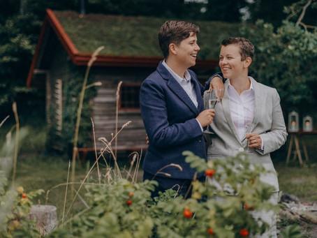 Christine & Hannah LGBT Forest Wedding