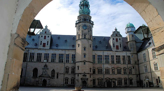 A ciew of Kronborg Castle, also known as the Elsinore Castle, a historical location but also a great castle wedding venue.