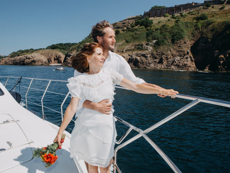 Daniela and Malte's Intimate Yacht Wedding on Bornholm