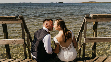 A video of a couple's beach wedding in Denmark on Lolland Island, one of the best places to elope abroad for an intimate wedding abroad.