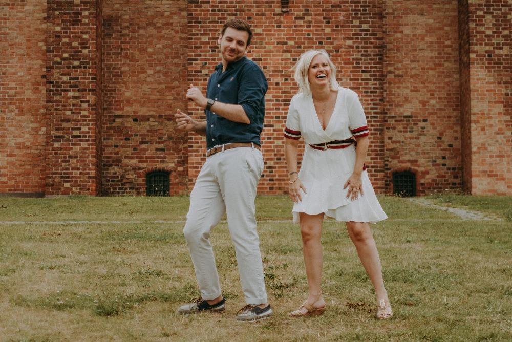 Dancing couple have chosen elopement wedding in Denmark