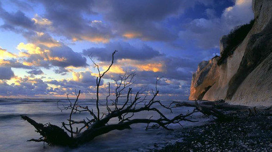 Møns Klint during sunset, a romantic outdoor wedding venue if you want to get married in Denmark.