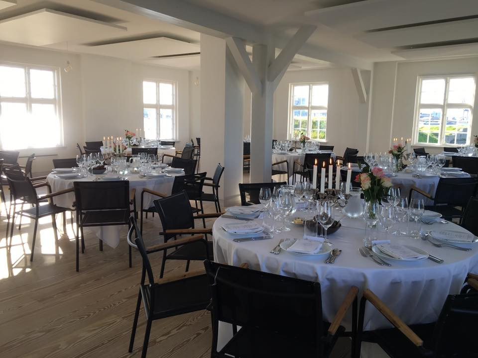 A setup in the restaurant, ready for your destination wedding in Denmark