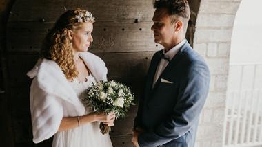 A video of a romantic Nordic wedding, a dreamy Denmark wedding venue on Stevens Klint and the ancient church.