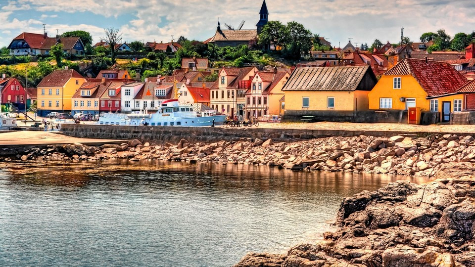 A view to the Gudjem harbour, awhere you can make elopement wedding in Denmark