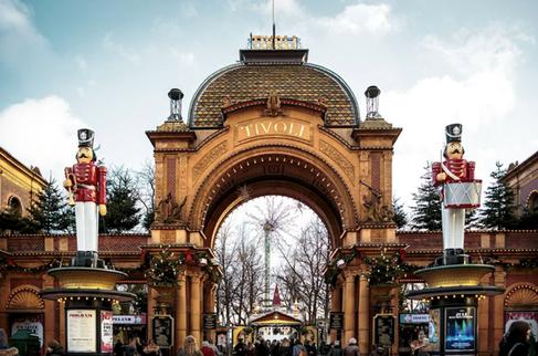The entre into Tivoli - famous park in Copenhagen