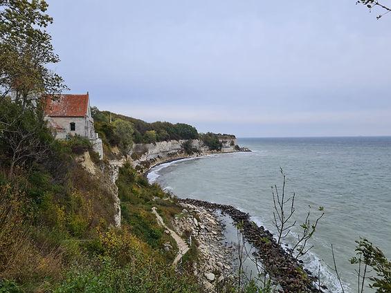 Denmark wedding venue - an ancient Church on the cliffs