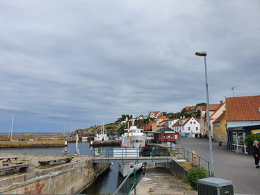 Harbour in Allinge on Bornholm island