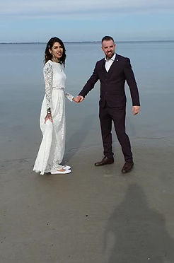 Beach wedding in Denmark Julieta & Rob