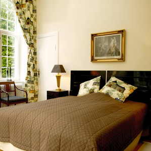 A look at the bedroom of the Vindeholme Castle wedding venue.