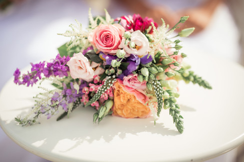 A close-up of a bouquet, one of the many details that go into perfecting bohemian weddings.