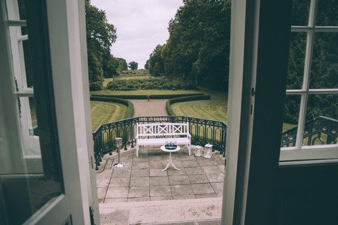 The Vindeholme Castle courtyard where your ceremony can be held with one of our Denmark elopement packages, ideal for intimate weddings abroad.