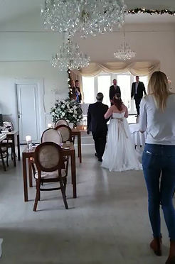 Romantical wedding in Denmark for the couple from Scotland