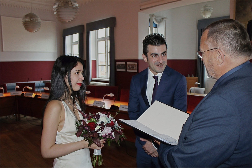The coupler getting married in Denmark in city hall in Maribo