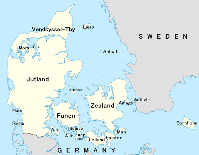 Interested in a small intimate wedding abroad on? Funen Island, on this Denmark map, is a great destination wedding location.