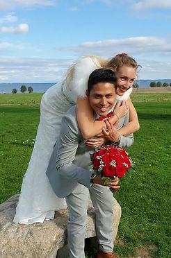 Beach wedding in Denmark