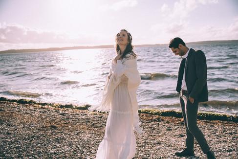 A beach wedding experience by newlyweds, a laidback adventure wedding in Denmark.