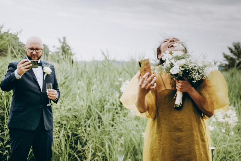 Streaming from the elopement wedding in Denmark