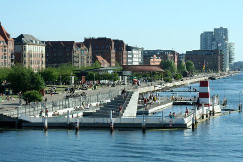 The pier in the center of Copenhagen