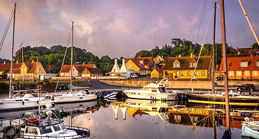 A view to Gudjem harbour, the best place for your adventure wedding in Denmark