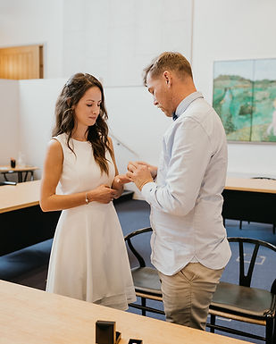A couple getting married in Denmark with a civil wedding, one of the best ways if you are looking for how to get married quickly