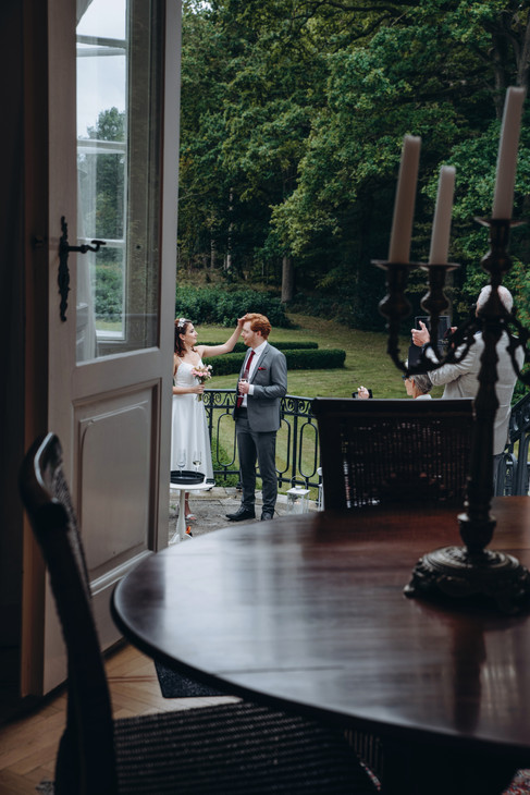A candid shot of a couple that wanted to get married in Denmark.