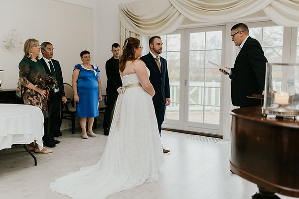 Courtney & Patryk getting married in Denmark. They eloped abroad because of the difficulty of getting married in their native countries. Instead of a Denmark city hall wedding, they had an elegant, small destination wedding.