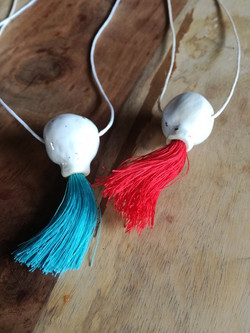 necklace blue and red