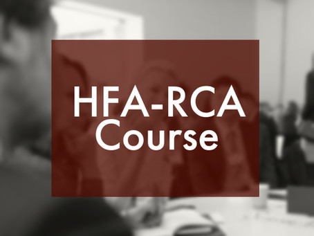 HOPE plans only one HFA-RCA Course in 2020