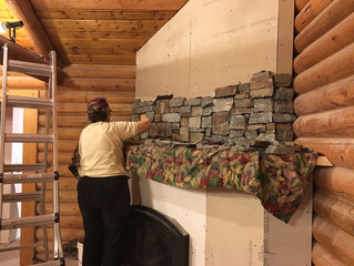 Renovating the Lodge: The New Rock Chimney is Starting to Come Together!
