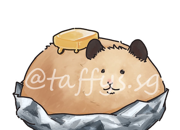 Taffy Hamster Sticker