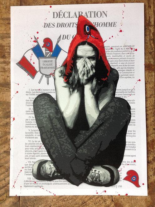Marianne - Droits de l'Homme - A4 - Original