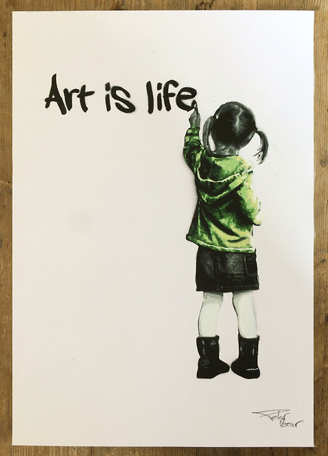 Art is life verte - A4 - Original