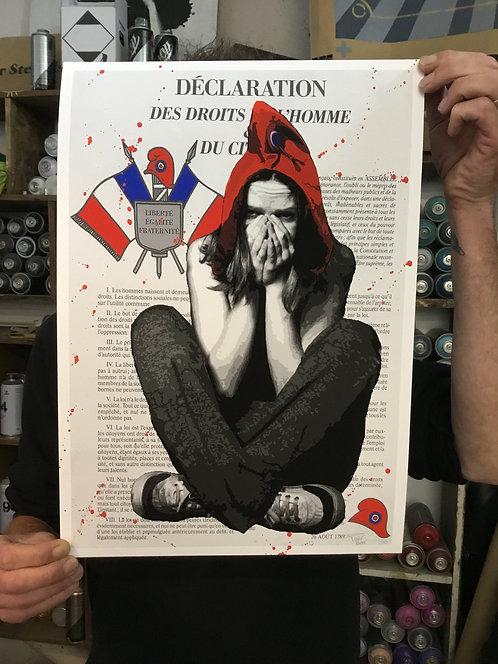 Marianne - Droits de l'Homme - Print A3