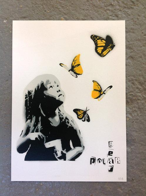 Kid and Butterflies - A3 - Original