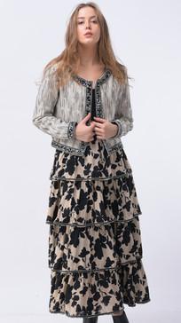 #SI-001 Jacket #SI-008 Skirt