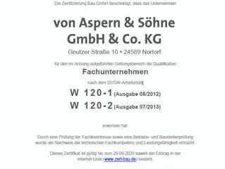 Zertifizierung nach DVGW - W120