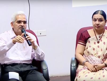 Discussing economic reform with Shaktikanta Das