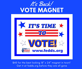 Car magnet, purchase, voter registration