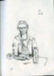 Anne, Pen, Notebook sketch, 2016