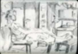Nadav, Notebook Sketch, Pen, 2016