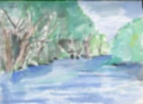 Fishermen, Pen & water colours notebook sketch, 2016
