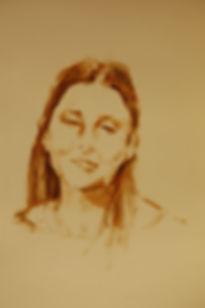 Lisa, 2018, Oil on 300g paper, 30X40