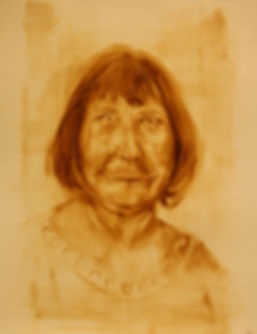 Frau, 2018, Oil on 300g paper, 49.5X64