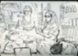 Alon's B-day, Notebook Sketch, Pen, 2016