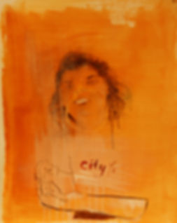 City M, 2018, Oil on 300g paper, 49.5X64