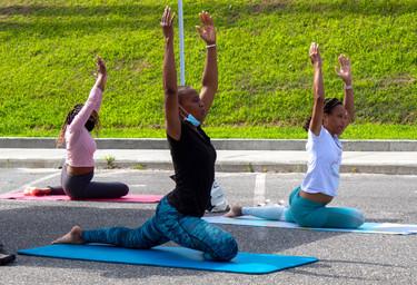 Yoga Program at Laurelton Farmers Market