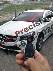 Copia de llave para Mercedes Benz CLA250 del 2014.