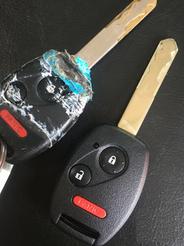 Reparación de llave para Honda Pilot del 2008.